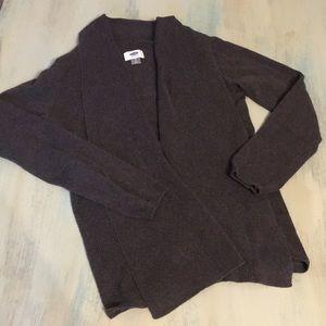 Old Navy dark grey open cardigan